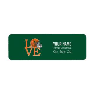 University of Miami Love Label
