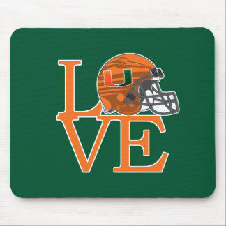 University of Miami Love Mouse Pad
