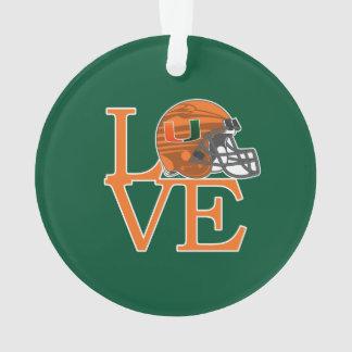 University of Miami Love Ornament