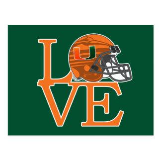 University of Miami Love Postcard
