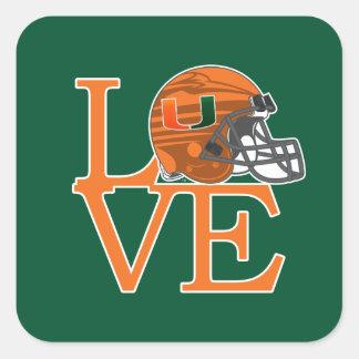University of Miami Love Square Sticker