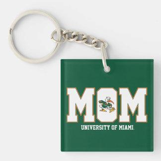 University of Miami Mom Keychain