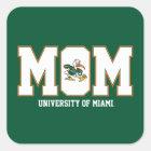 University of Miami Mom Square Sticker