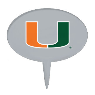 University of Miami Primary Mark Cake Toppers