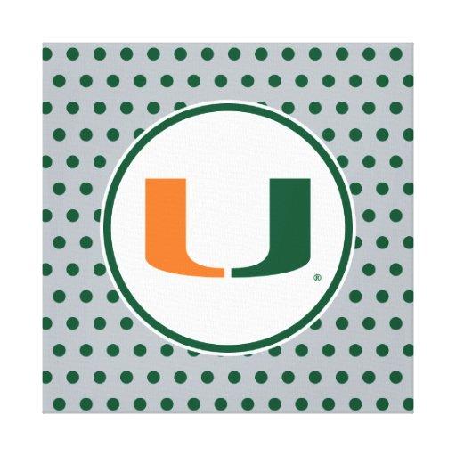 University of Miami Primary Mark Gallery Wrap Canvas