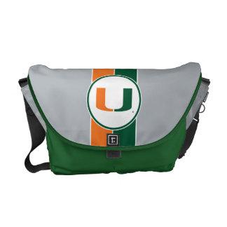 University of Miami Primary Mark Messenger Bags