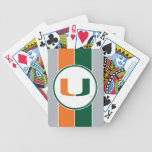 University of Miami Primary Mark Bicycle Playing Cards