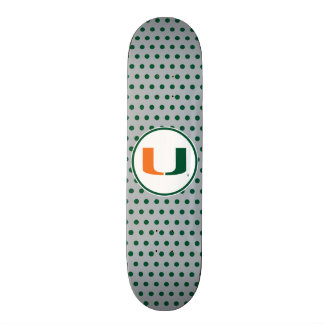 University of Miami Primary Mark Skateboard Decks