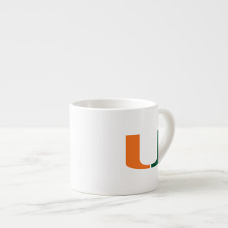 University of Miami Primary Mark 6 Oz Ceramic Espresso Cup
