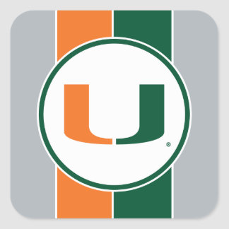 University of Miami Primary Mark Square Sticker