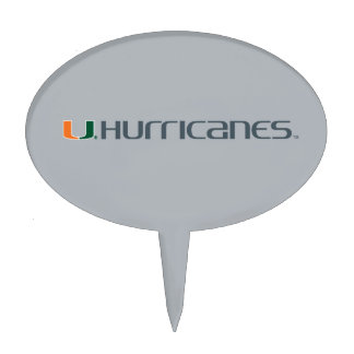 University of Miami Secondary Hurricanes Mark Cake Toppers