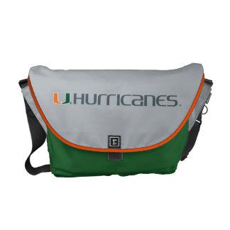 University of Miami Secondary Hurricanes Mark Messenger Bags