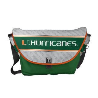 University of Miami Secondary Hurricanes Mark Messenger Bag