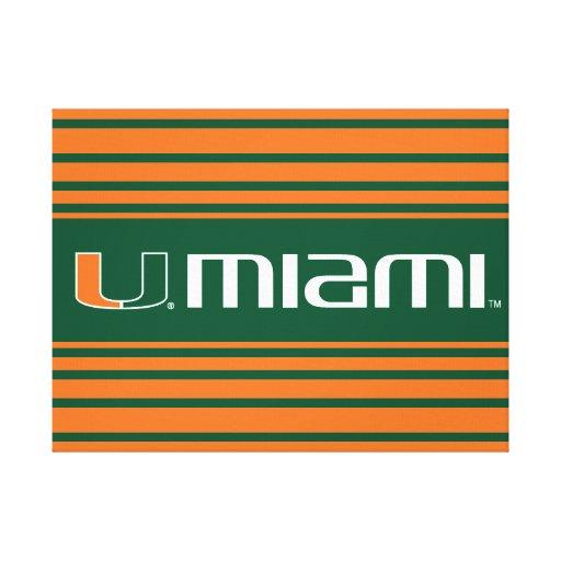 University of Miami Secondary Miami Mark Gallery Wrapped Canvas