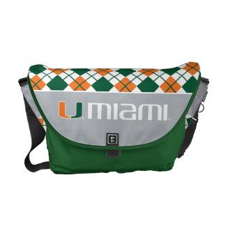 University of Miami Secondary Miami Mark Messenger Bags
