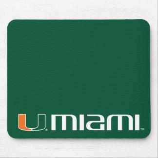 University of Miami Secondary Miami Mark Mouse Pad