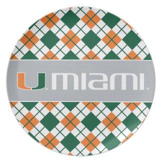 University of Miami Secondary Miami Mark Plate
