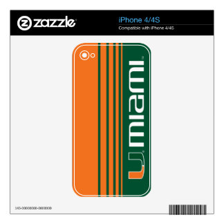 University of Miami Secondary Miami Mark Decals For The iPhone 4S