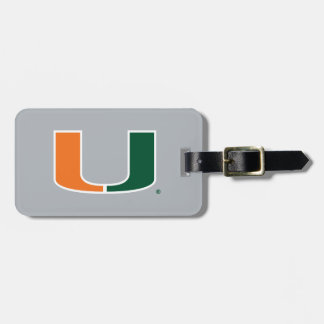 University of Miami U Bag Tag
