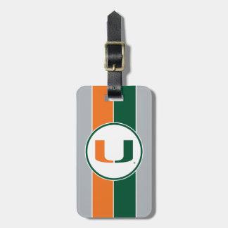 University of Miami U Bag Tag