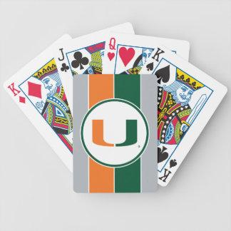 University of Miami U Bicycle Playing Cards