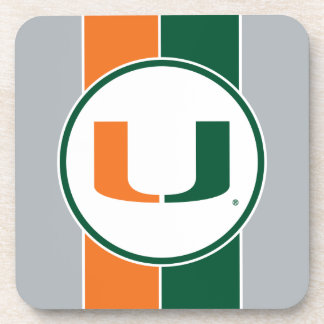 University of Miami U Drink Coaster