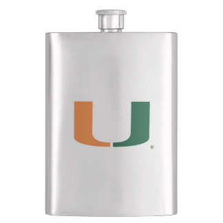 University of Miami U Hip Flask