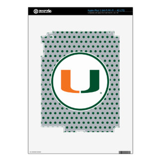 University of Miami U iPad 3 Decals