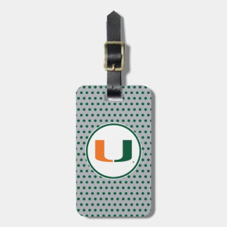 University of Miami U Luggage Tag