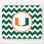 """University of Miami U Mouse Pad<br><div class=""""desc"""">Get all of the best University of Miami gear at Zazzle.com! Support the Hurricanes in style with these products that are perfect for students, alumni, family, and fans. All of these products are customizable with your name, your sport, or your class year. Represent the U by sporting Green and Orange...</div>"""