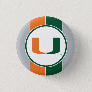 University of Miami U Pinback Button