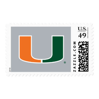 University of Miami U Postage