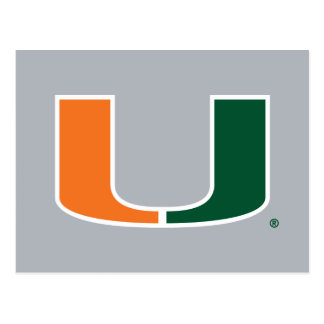 University of Miami U Postcard