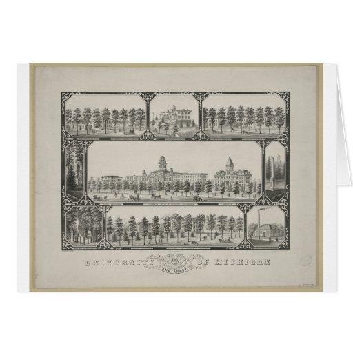 University of Michigan - 1881 Card