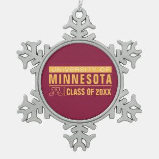 University of Minnesota Alumni Snowflake Pewter Christmas Ornament