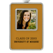University of Missouri Graduation Silver Plated Framed Ornament