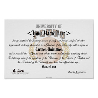 University of Pluto Diploma Posters