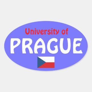 University of Prague* Oval Sticker