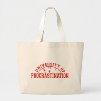University of Procrastination Large Tote Bag