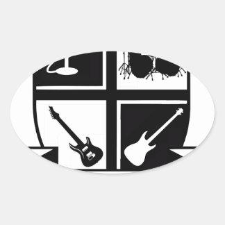University of Rock & Roll Oval Sticker