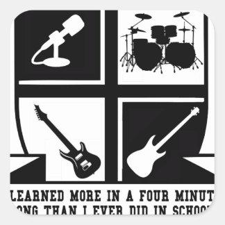 University of Rock & Roll Square Sticker