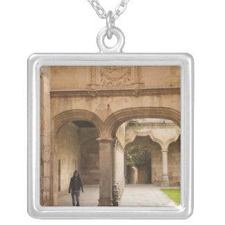 University of Salamanca Square Pendant Necklace