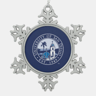 University of San Diego | Est. 1949 Snowflake Pewter Christmas Ornament