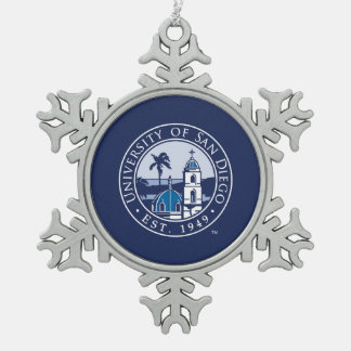 University of San Diego | Est. 1949 Snowflake Pewter Christmas Ornament