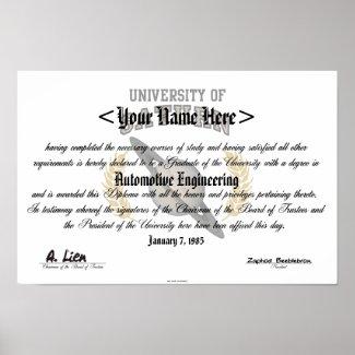 University Of Saturn Diploma