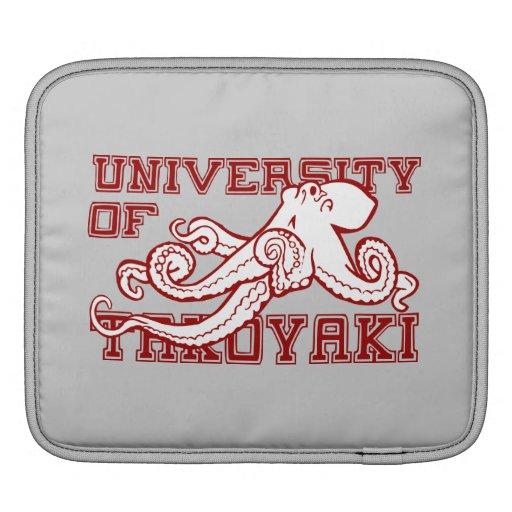 University of Takoyaki Japanese octopus funny iPad Sleeves