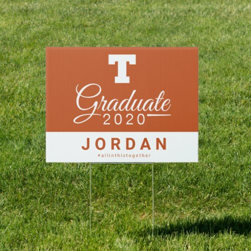 University of Texas 2020 Graduate Sign