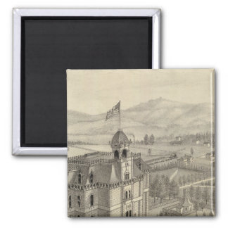 University of the Pacific 2 Inch Square Magnet