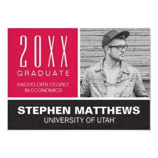 University of Utah Graduation Announcement