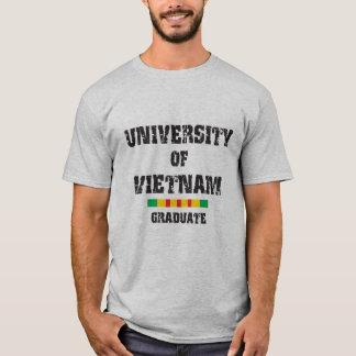 University of Vietnam distressed 2 graduate skull T-Shirt